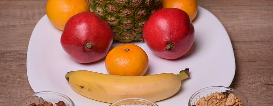 assorted fruits on white ceramic plate, food, sweet, delicious, HD wallpaper