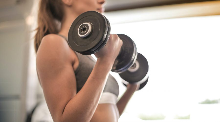 Arm workouts with weights