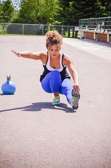Girl, Pistol Squat, Fit, Strong